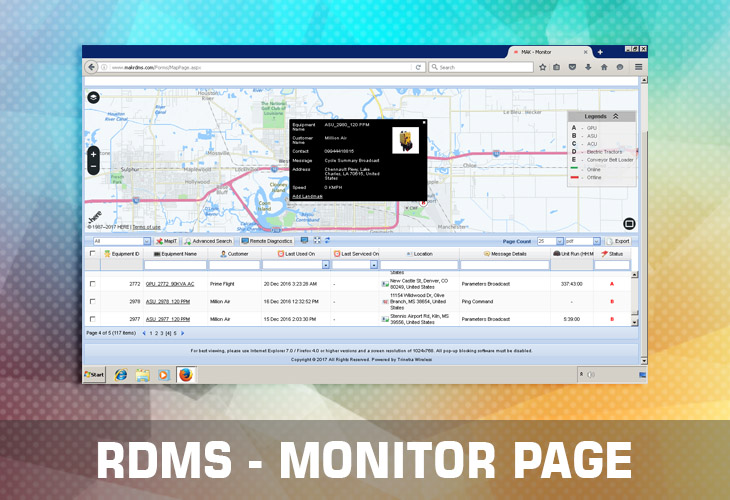 rdms monitor page